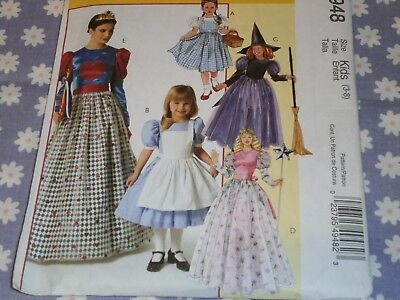 McCALL'S 4948 GIRLS ALICE-DOROTHY-SNOW WHITE QUEEN OF HEARTS PATTERN-UNCUT 3-8 - Queen Of Hearts Costume Pattern