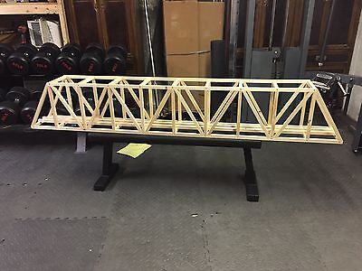 """96"""" G-Scale Ceiling Railroad Overhead Truss Bridge (not stained) for sale  Boxford"""