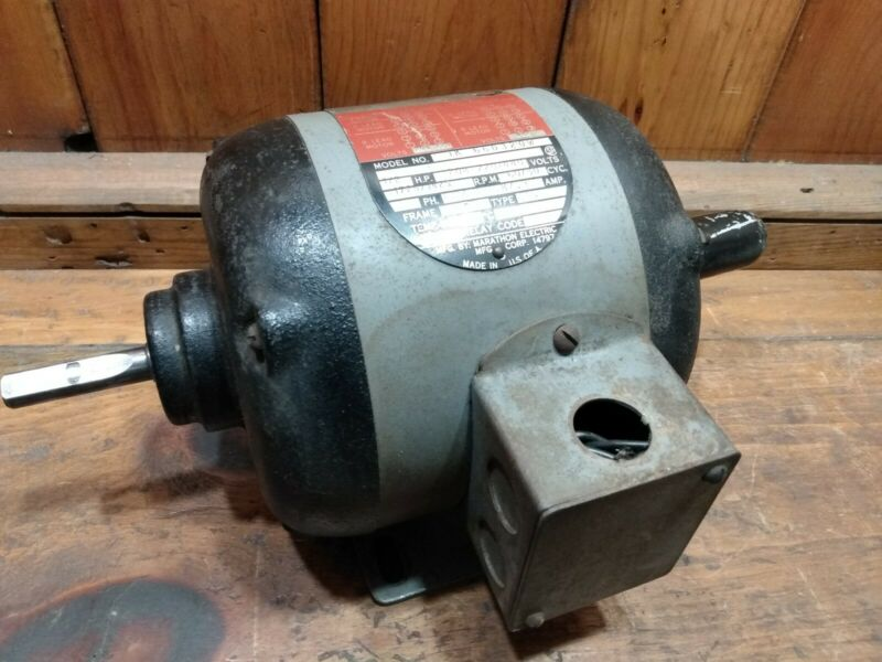 Rockwell / Delta 1/2 HP AC Motor 1725 RPM 3 Phase TK66D320W Working Condition