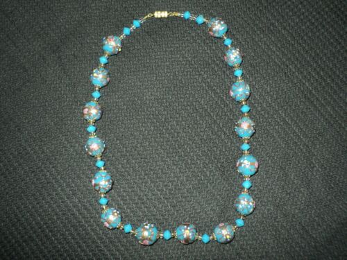 Vintage Rare  Collectible Glass Bead Necklace