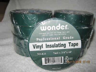 Wonder Vinyl Insulating Professional Grade Tape - Green