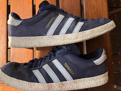 Vintage Adidas Originals Topanga Trainers Size 10 Classic Retro Rare 3 Stripes