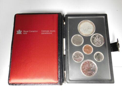1980 Royal Canadian Mint Proof Set With Box & COA