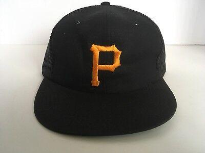 RARE Authentic Vintage Pittsburgh Pirates mesh Snapback hat cap Bonds Chuck D](Authentic Pirate Hats)