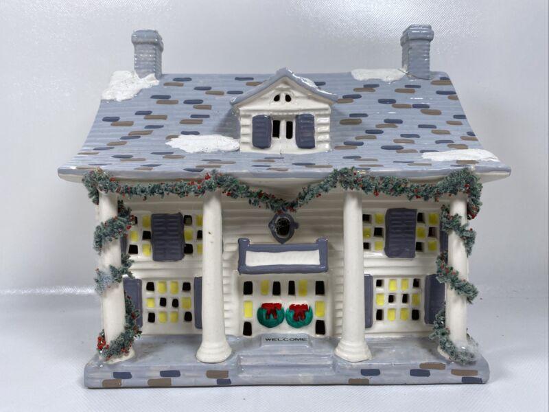 "Department 56 Snow Village- ""Cumberland House"" 1987 #5024-5, White House Pillars"