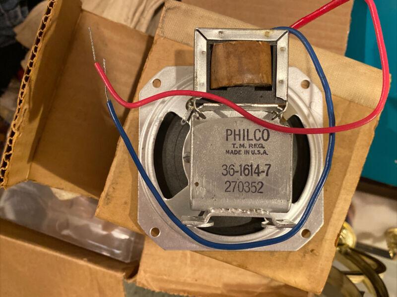 """1950's - '60's Philco Radio Intercom Or Radio Speaker 4x4"""" PM Magnet 3.2 OHM NOS"""