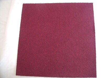 ** REDUCED ** 8 x Burgundy Red Carpet Tiles