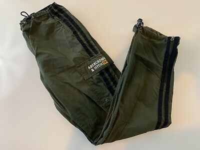 VTG Abercrombie & Fitch Men's Stretch Athletic Lounge Pants Size S Green