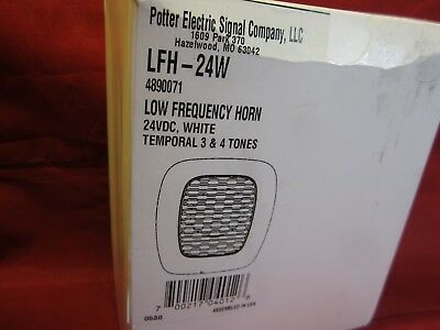 ADI | Potter Electric Signal Co. Us | LFH-24W | WHITE 520 HZ Low Frequency Horn