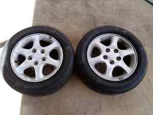 195 60 R15 Mazda Alloy Wheels with Tyres in As New condition  Panania Bankstown Area Preview
