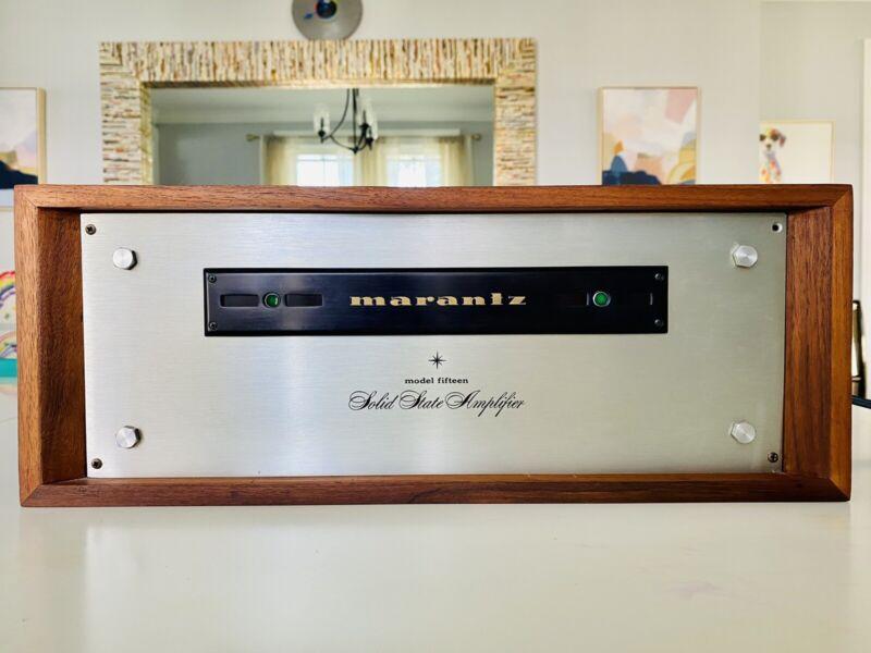 Marantz Model 15 Vintage Stereo Amplifier. Orig. Wood Case. Tested. Very Clean.