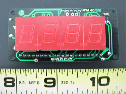 3.5 Digit LED DPM - Compact Panel Meter - Martel DPM40 *NOS*
