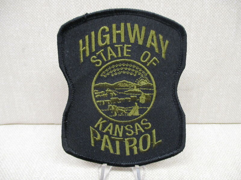 KANSAS HIGHWAY PATROL (KHP) SUBDUED SHOULDER PATCH, CAMMO, SWAT, NEW ISSUE