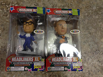 AUSTIN POWERS AND DR. EVIL EQUITY HEADLINERS XL FIGURINES BRAND NEW IN BOX MINT