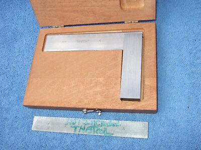 Starrett Square No.55 Beveled Edge 4-12 Vintage Toolmaker Machinist Wooden Box