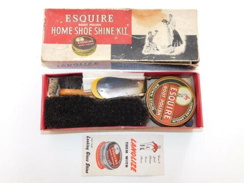 Vintage Esquire Home Shoe Shine Kit