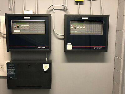 Notifier Afp-400 Fire Detection And Alarm System Panel With Key Pad