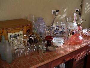 REDUCED PRICES. GLASS-WARE LAMPS OLD BOTTLES VASES PLATES BOWLS. Flynn Belconnen Area Preview