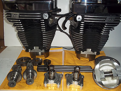 "Harley S&S Black & Chrome T111 111"" Motor Engine Twin Cam Top End Intrepid"
