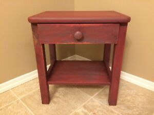 Reduced small pine end table