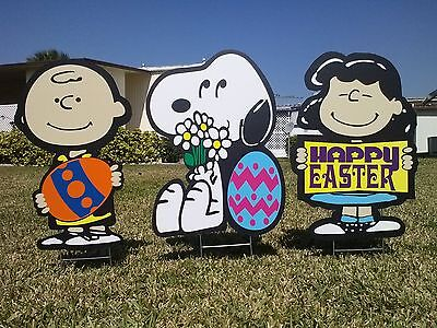Peanuts outdoor Easter TRIO Christmas valentine's decorations - Outdoor Valentine Decorations