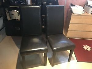 4x Used Black Dining Room Chairs