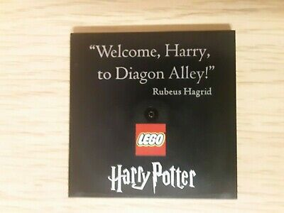 "Lego 75978 Harry Potter ""Welcome, Harry to Diagon Alley"" printed tile piece"