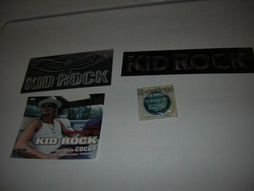 KID ROCK PROMO LOT OF 4 2002-2003 COCKY CONDOM STICKERS PROMO SLIP VINTAGE