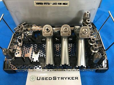Stryker System 7 Set With 7203 7206 7208 Handpieces Attachments