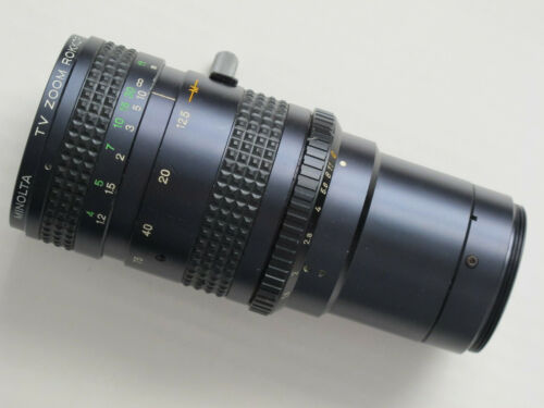 Vintage Minolta TV Zoom Lens ROKKOR F1.8 12.5-75mm M42 Mount, Smooth Aperture