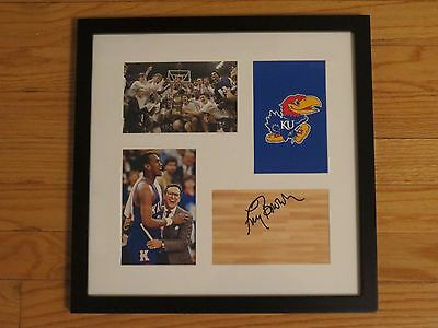 Larry Brown Autograph Autographed Framed Signature KANSAS Basketball Signed