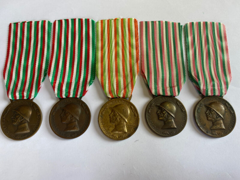 The 5 Versions Medal War Austrian-Italian 1915-1918 Cast Bronze Enemy ww1