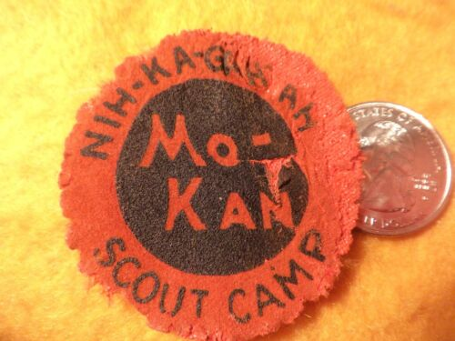 *****1942 Boy Scout Camp Nih-ka-ga-hah canvas  patch