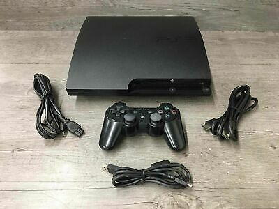 Sony Playstation 3 Slim 160GB Video Game Console Bundle Black CECH-3001A Tested