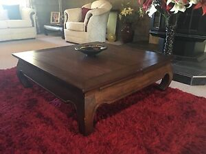 Dark wood square coffee table Stanthorpe Southern Downs Preview
