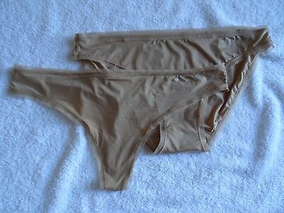 DKNY 5002/5001 Litewear Bikini/Low-Rise Mesh-Trim Thong 2-Pairs Panties US Sz L Mesh Low Rise Thong Panty