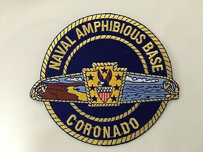 US NAVAL AMPHIBIOUS BASE CORONADO PATCH MEASURES 4 1/2 TALL X 5 WIDE INCHES