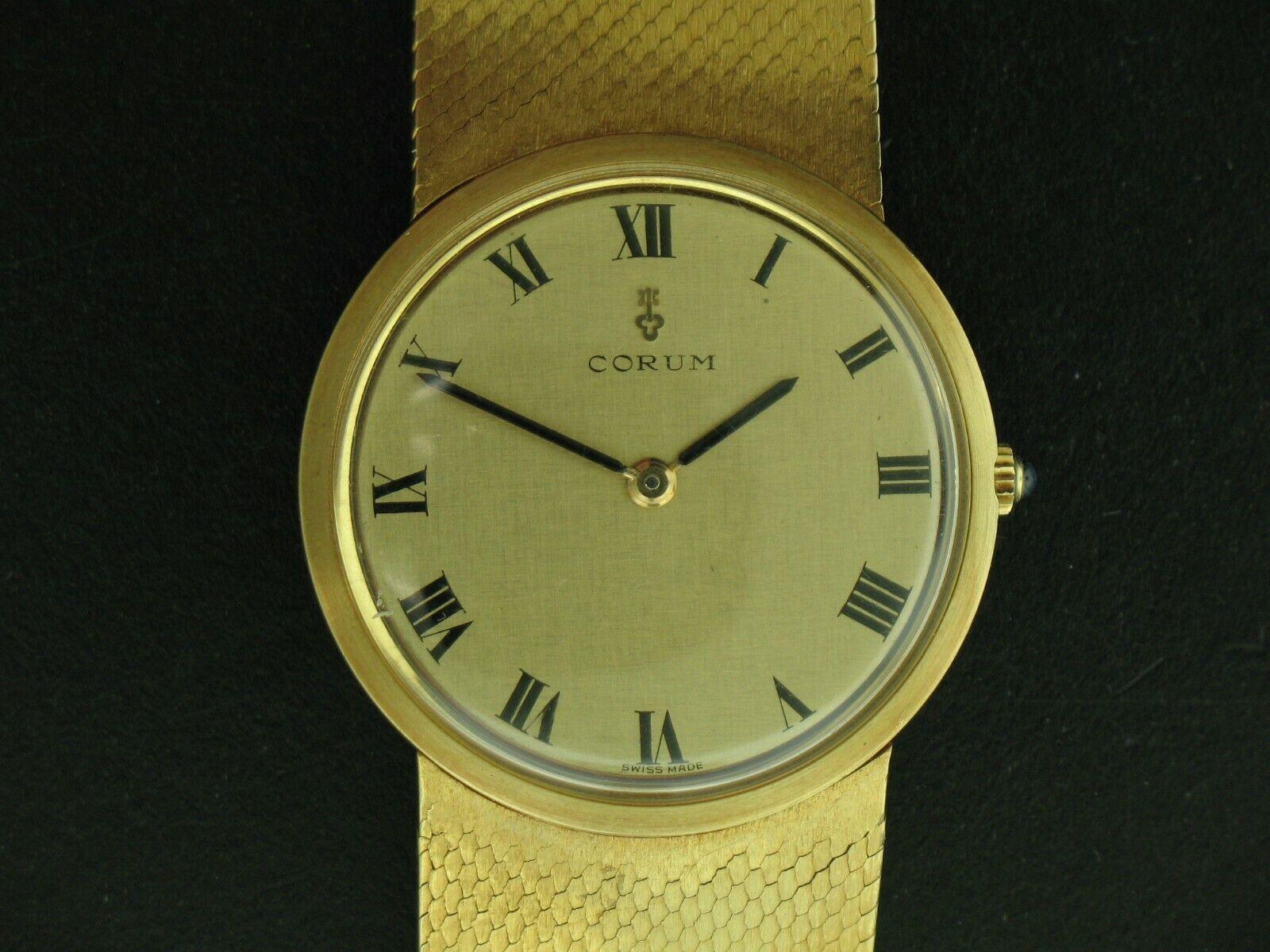 Corum 18K Yellow Gold Thin Dress Watch Mechanical Manual Wind 84.7 grams - watch picture 1