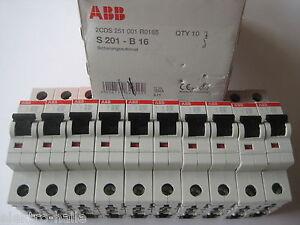 10x ABB Sicherung Leitungsschutzschalter Automat B16A 1-pol