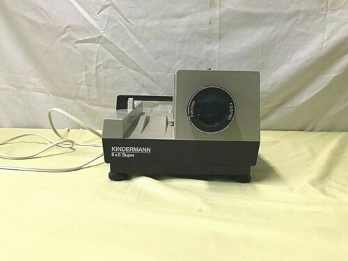 Vintage KINDERMANN 6x6 Super Slide Projector w/ Patrinast Lens ~ Tested Works