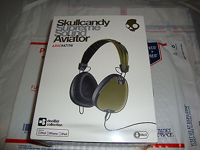 NEW Skullcandy Aviator Supreme Sound Headphones Headset Made for iPhone w/ Mic3