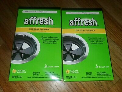 New 2-Pack Garbage Disposal Cleaner Premium Quality Affresh W10509526 * citrus