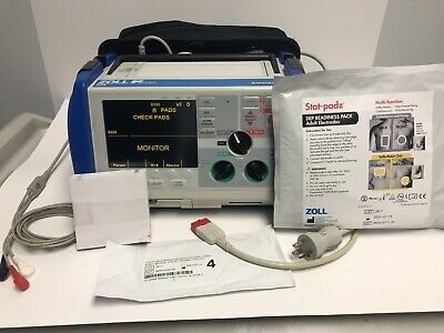 Zoll M Series Biphasic Defibrillator New Battery 3 Lead Ecg Cable New Padz