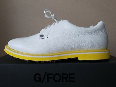 🔥🔥NEW G/Fore Gallivanter Fly Golf Shoes Spikes White/Yellow Mens Sz. 10