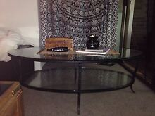 Iron & glass coffee table, two levels. Paddington Eastern Suburbs Preview