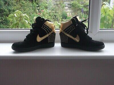 Black / Gold Nike Wedge trainers - Size 5