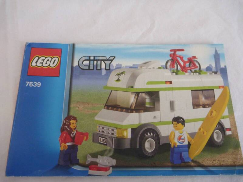 Lego City Camper Van Set 7639 Complete Instructions Toys Indoor