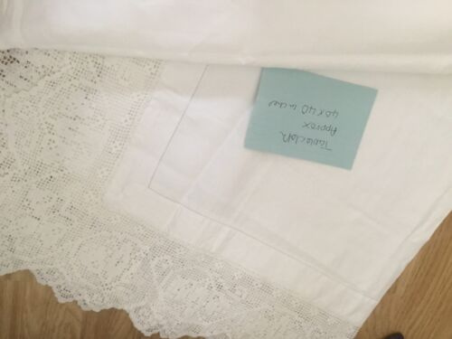 Antique sheets and tablecloth