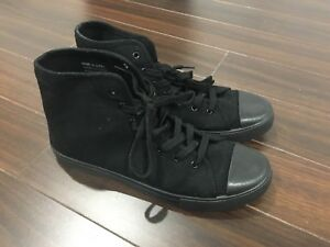 Converse style black sneakers (only worn 1 time) Size 10