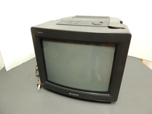 "Sony Trinitron KV-10FMR20 10"" Gaming Color TV w/ Radio Mega Bass- For repair"